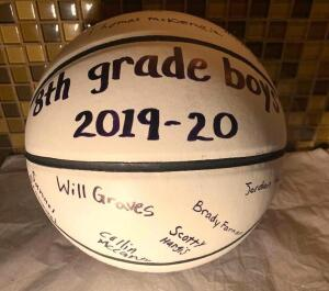 8th Grade Boys Signed Basketball