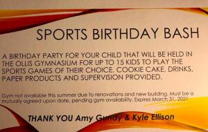 Sports Birthday Bash