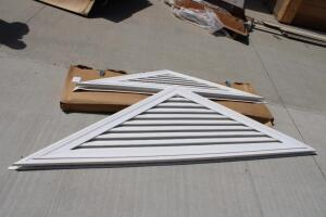 (2) Vinyl Triangular Gable Vents