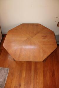 Octagon shaped coffee table