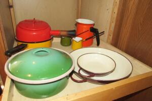 Dansk and other enamel pots and pans