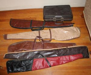 Assortment of firearm cases