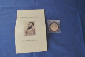 "General ""Stonewall"" Jackson .999 fine silver coin"
