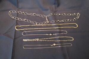 "14K gold chains, 18"", 20"" & 28"""
