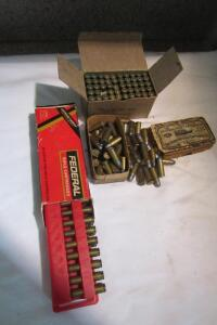 (40 +/-) 38 caliber Smith & Wesson vintage ammo