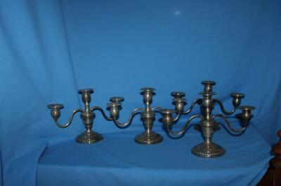 4 Revere Silversmiths sterling weighted candelabras