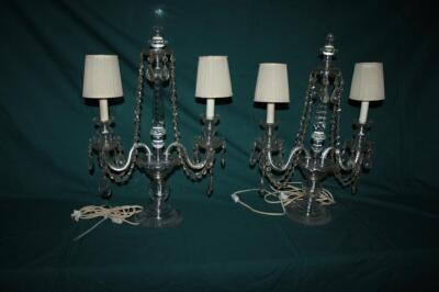 Pair of ornate electric candelabras