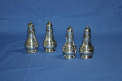 4 sterling salt and pepper shakers