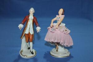 Pair of Dresden, made in Germany figurines