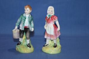 Royal Doulton Jack and Jill figurines