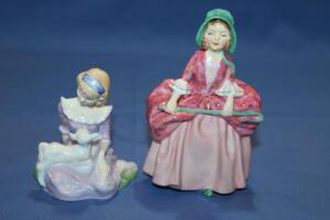 "Royal Doulton figurines, ""Mary Had a Little Lamb"" and ""Bo Peep"""