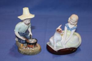 Royal Doulton figurines, River Boy and Golden Days