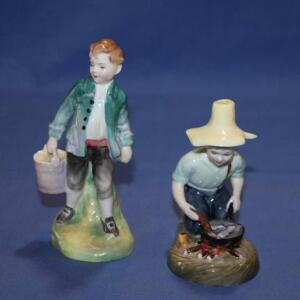 "Royal Doulton figurines, River Boy and ""Jack"""