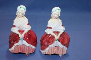 "2 Royal Doulton figurines, ""Peggy"""