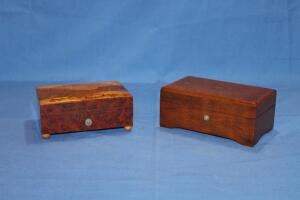 2 Thorens wooden music boxes