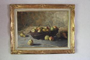 Still Life of fruit oil on canvas by G. Becciani