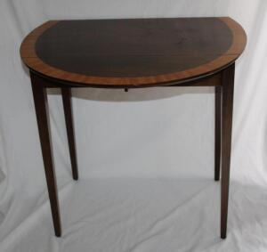 Drop leaf side table with drawer