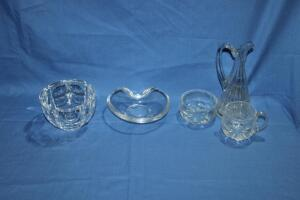 Crystal items and other glass pieces