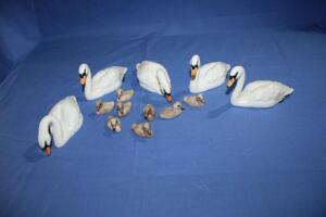 Beswick England swans and babies
