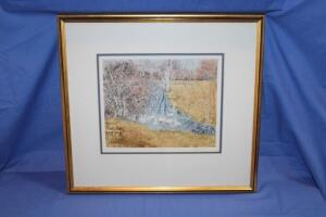 """Susan's Pond"" print signed by Shirley Pernie"