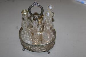 Caster set, silver plate