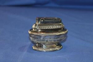 "Ronson silver-plate ""Queen Anne"" table lighter"