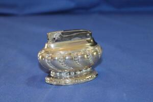 "Ronson silver-plate ""Crown"" table lighter"