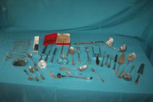 Silver-plate serving utensils