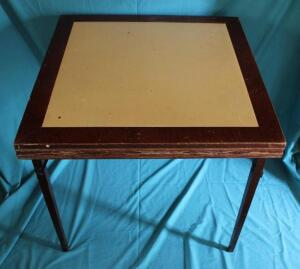 Ferguson vintage card table with leather insert