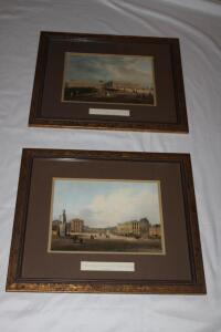2 framed and matted prints