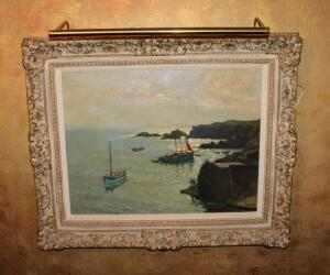 Oil on canvas seascape by Henri Callot