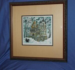 Framed and matted print, artist signed and numbered 5/20