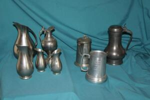 Pewter and other pieces