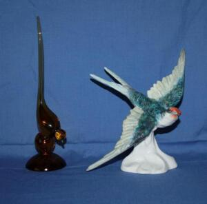 Staffordshire china Swallow designed and modeled by J. T. Jones