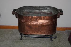 Copper wash tub