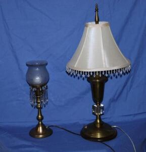 "Bedside lamp 14"" T with glass prisms"
