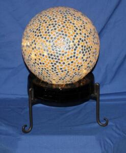 "10"" lighted ball on stand"