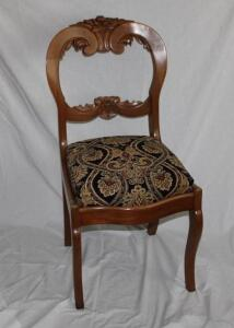 Upholstered rose back chair