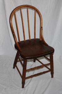 Vintage multi-wood chair