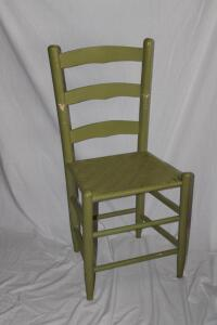 Ladder back woven bottom chair