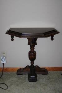Ornate wooden hall table