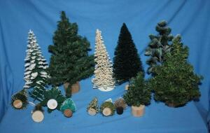 Dept. 56 Christmas trees and others