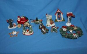 Hallmark Little Frosty Friends 1990 wreath with miniature ornaments