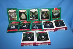Hallmark Twelve days of Christmas ornaments, not complete set