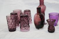 Amethyst glass pieces - 2