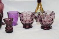 Amethyst glass pieces - 3