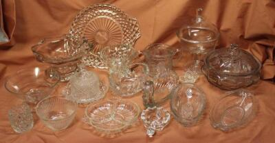 Assorted press glass pieces
