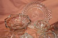 Assorted press glass pieces - 2