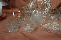 Assorted press glass pieces - 4