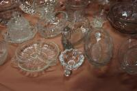 Assorted press glass pieces - 5